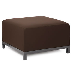 Axis Seascape Chocolate Ottoman with Titanium Frame