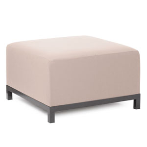 Axis Seascape Sand Ottoman with Titanium Frame
