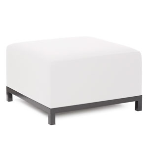 Axis Seascape Natural Ottoman with Titanium Frame