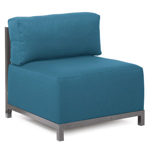 Axis Seascape Turquoise Chair with Titanium Frame