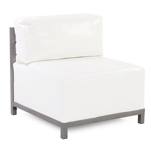 Axis Atlantis White Outdoor Accent Chair with Titanium Frame