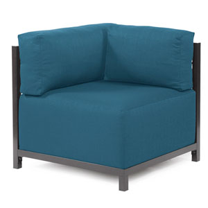 Axis Seascape Turquoise Corner Chair with Titanium Frame