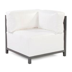 Axis Atlantis White Outdoor Corner Chair with Titanium Frame
