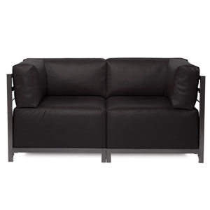 Axis Atlantis Black Outdoor 2-Piece Sectional Sofa with Titanium Frame