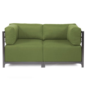 Axis 2-Piece Seascape Moss Sectional with Titanium Frame