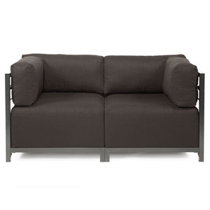 Axis 2-Piece Seascape Charcoal Sectional with Titanium Frame