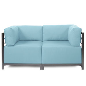 Axis 2-Piece Seascape Breeze Sectional with Titanium Frame