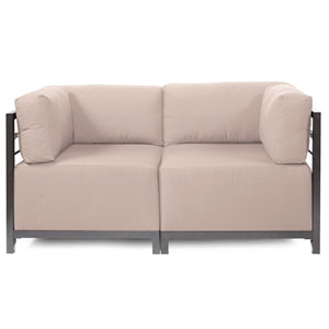 Axis 2-Piece Seascape Sand Sectional with Titanium Frame