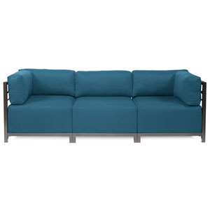 Axis 3-Piece Seascape Turquoise Sectional with Titanium Frame