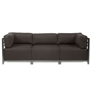 Axis 3-Piece Seascape Charcoal Sectional with Titanium Frame