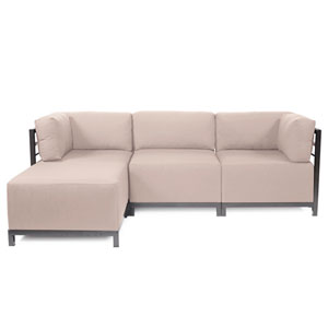 Axis 4-Piece Seascape Sand Sectional with Titanium Frame