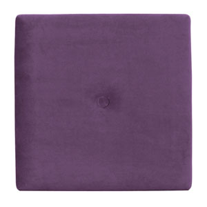 Bella Eggplant 1-Inch Wall Pixel with Button