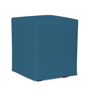 Universal Seascape Turquoise Cube Ottoman