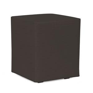 Universal Seascape Charcoal Cube Ottoman