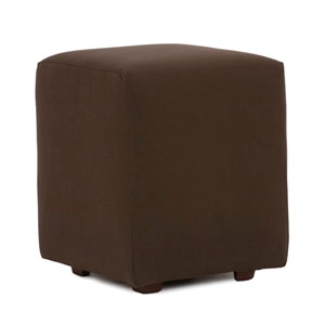 Universal Seascape Chocolate Cube Ottoman