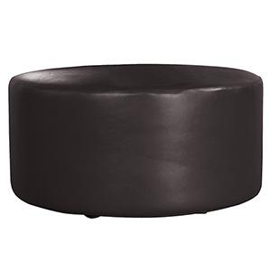 Universal 36-inch Round Atlantis Ottoman Black