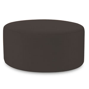 Universal Seascape Charcoal 36-Inch Round Ottoman
