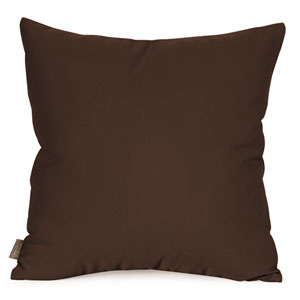 Seascape Chocolate 20 x 20-Inch Pillow