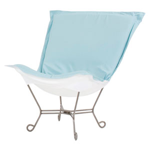 Scroll Puff Seascape Breeze Chair with Titanium Frame