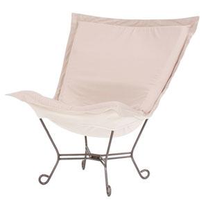 Scroll Puff Seascape Sand Chair with Titanium Frame
