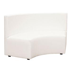 Radius White Universal Incurve Outdoor Patio Bench