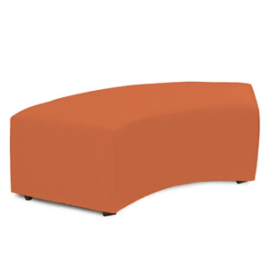 Seascape Canyon Orange Universal Outdoor Radius Bench