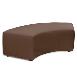Universal Seascape Chocolate Radius Bench