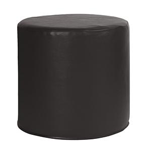 No Tip Cylinder Atlantis Black Ottoman