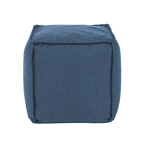 Square Pouf Seascape Turquoise