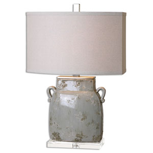 Melizzano Ivory Gray One-Light Table Lamp