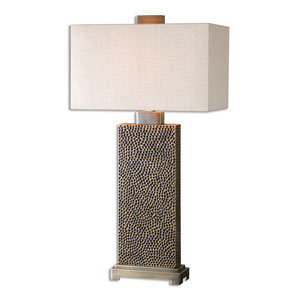 Canfield Coffee Bronze One-Light Table Lamp