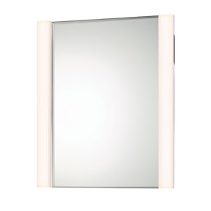 Vanity Polished Chrome 2-Light LED Mirror Kit