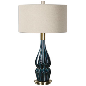 Prussian Blue One-Light Table Lamp