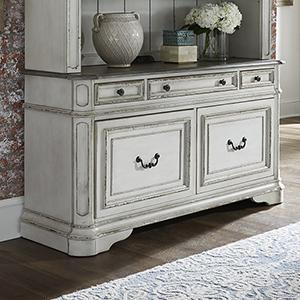 Magnolia Manor Antique White 56-Inch Credenza