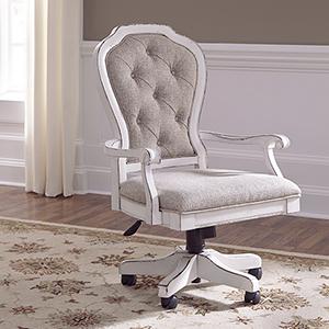 Magnolia Manor Antique White 45-Inch Junior Executive Desk Chair