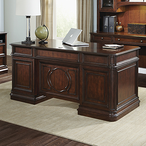 Brayton Manor Cognac 30-Inch Junior Executive Desk