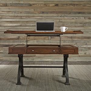 Arlington House Cobblestone Brown 40-Inch Lift Top Writing Desk