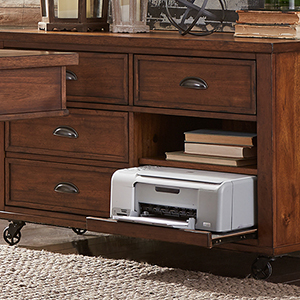 Arlington House Cobblestone Brown 48-Inch Credenza