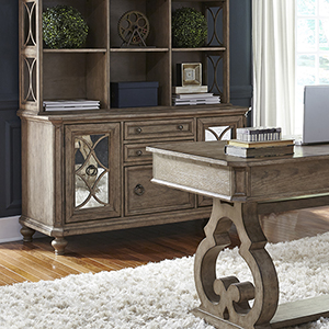 Simply Elegant Heathered Taupe 56-Inch Credenza