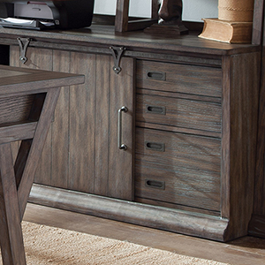 Stone Brook Rustic Saddle 54-Inch Computer Credenza