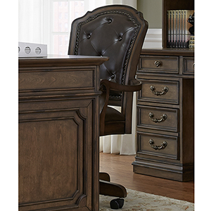 Amelia Antique Toffee 42-Inch Junior Executive Office Chair
