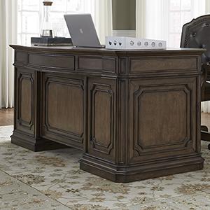 Amelia Antique Toffee 30-Inch Junior Executive Desk