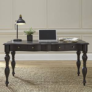 Chesapeake Wire Brushed Antique Black 30-Inch Writing Desk