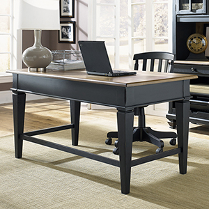 Bungalow Driftwood and Black 30-Inch Junior Executive Desk