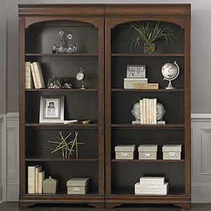 Chateau Valley Brown Cherry 32-Inch Bunching Bookcase