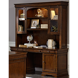 Chateau Valley Brown Cherry 66-Inch Junior Executive Credenza Set