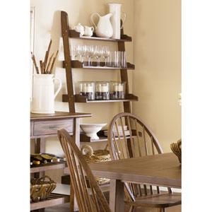 Farmhouse Weathered Oak Leaning Bookcase