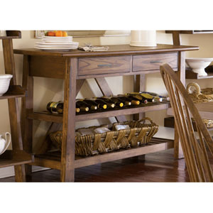Farmhouse Weathered Oak Server