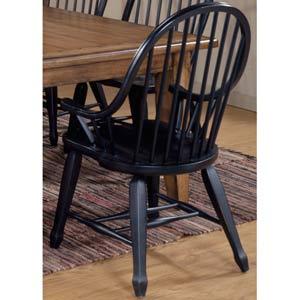 Treasures Black Bow Back Arm Chair