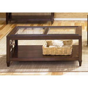 Caroline Espresso Rectangular Cocktail Table